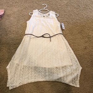 Lace off white dress